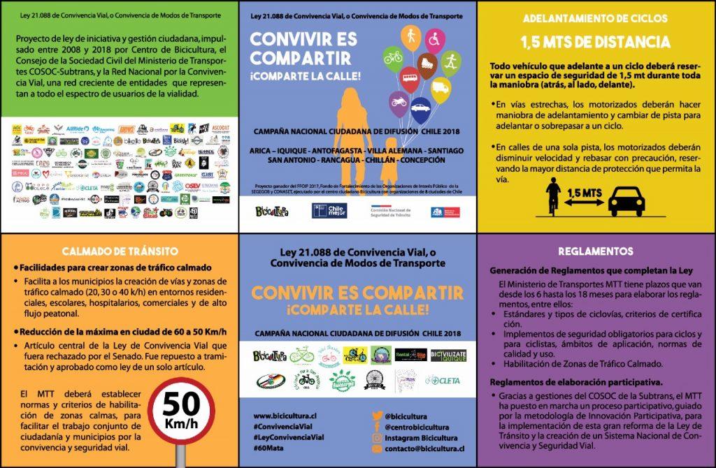 Convivencia vial: El día en que casi todas las calles de Chile permitirán el tránsito de bicicletas